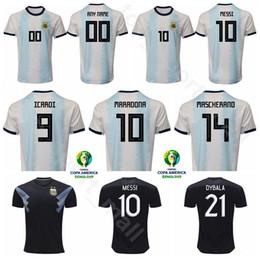 Аргентинская футбольная команда джерси онлайн-2019 Кубок Америки Аргентина футбол 10 Марадона Джерси сборная 8 Дзанетти 9 Батистута 22 Лавецци Маскерано футбольная рубашка комплекты униформа