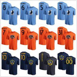 2019 laranja camisetas Homens 2019 MLS Tees Mnufc Dynamo La Galáxia futebol futebol fãs camisetas azul laranja desconto laranja camisetas