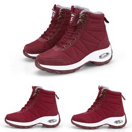 Botas de nieve mujer cool online-Enfriar lithe3 nieve rojo cálido invierno Borgoña beige blanco botas de señora hermana mujer niña negro zapatillas de bota zapatos para caminar al aire libre ENTRENADORES