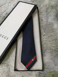 Caja de corbatas de diseñador online-13 estilo jacquard de seda principal diseñador del lazo corbata de lazo de los hombres de lujo, el embalaje de la boda caja de regalo del lazo de negocios G903