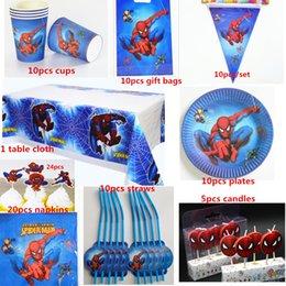 Leute papiere online-10 Leute 100pcs alles Gute zum Geburtstag scherzt Spinnen-Super-Mann-Wegwerfpartei-Dekoration stellt Papiergirlanden-Babyduschenversorgungen SH190911 ein