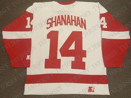 ed8da0d4aa8 2019 antipasti economici Cheap personalizzato Brendan Shanahan Vintage  Starter Detroit Red Wings Jersey Retro cucita Hockey