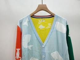 2020 suéter cardigan de punto de gran tamaño para mujer ropa de marca para mujer Cárdigan de punto Feminino Suéteres de mujer para mujer Cárdigan de gran contraste de color de contraste largo Suéter de mujer talla grande ch-1 suéter cardigan de punto de gran tamaño para mujer baratos