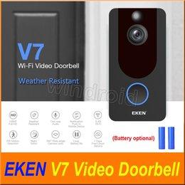 Vision de mouvement en Ligne-EKEN V7 HD 1080P Smart Home Vidéo Sonnette Caméra Sans fil Wifi en temps réel Téléphone Vidéo Stockage en nuage Vision nocturne Détection de mouvement PIR