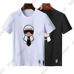 2019 juguetes 3d 2019 Diseñador de la marca Camisetas para hombre Moda de verano Europa Classic 3D muñeca de juguete de cuero cuello redondo botón botton Camiseta casual Camiseta Top juguetes 3d baratos