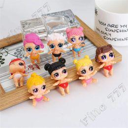 trajes de baño de figura Rebajas 8 estilo lol traje de baño niña muñeca anime muñeca juguete lol muñeca figura de acción micro paisaje decoración 8 unids / lote