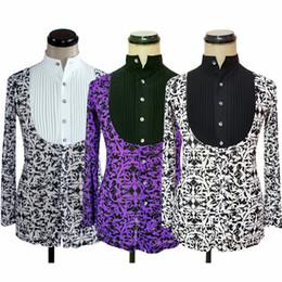 bb24737e8e New Color Folds Men S Latin Dance Tops Practice Wear Professional Long-Sleeved  Ballroom Samba Clothing Adult Dance Shirt DWY1124