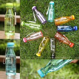 9 cores 550ml garrafa de água Top Grande copos BPA Ciclismo Garrafa da bicicleta Sports Unbreakable Plastic Água EMS GJY695 de