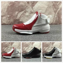 1ba0a8e016ae 2018 19 19s men Basketball shoes white black the master Barons Wolf Grey  flu game taxi playoff french blue gym red Sneakers