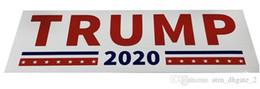 apertos para guiador kawasaki Desconto Carro novo Trump Etiqueta 2020 Campaign Trump Adesivo 2 Car Bumper Trump etiqueta da etiqueta (10 Pieces saco de OPP) 004