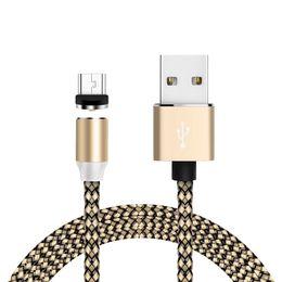 Cable magnético tres en uno para los cables de carga tipo Android C de Iphone Android Línea de fecha Cargador magnético circular ciego 5 colores desde fabricantes