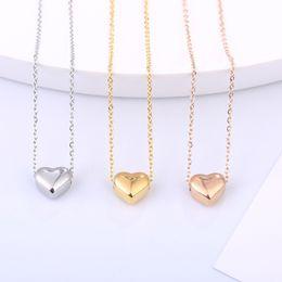 3 Farben Mädchen-Liebe-Halsketten-Gold überzogene Herz-Anhänger in Form von Claviclekettenhalskette festen Liebes Armband-Armbänder der Art und Weise Schmuck M824 von Fabrikanten