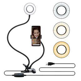 Сотовый телефон звонит онлайн-16см Фотостудия Selfie LED Ring Light с мобильного телефона Мобильный держатель для Youtube Live Макияж Камеры Лампа для iPhone Samsung Xiaomi Smartpho