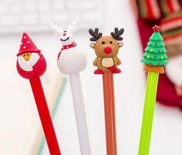 weihnachten neuheit stifte Rabatt 50 teile / los Neuheit Weihnachten Santa Gel Tinte Schreibwalze Büro Studienmaterialien Kinder Geburtstag Party Favor Geschenke