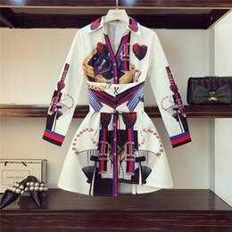 schöne frauen europa kleid Rabatt Europa-Art 2019 modische Frauen-lange Hülsen drehen-unten Kragen-Druck-Kleid-weibliche schöne Kleider A939 Y19053001