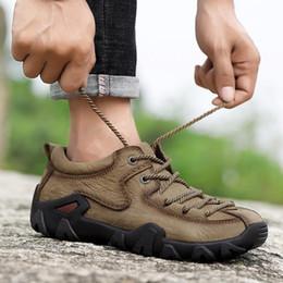 Canada Hommes En Cuir Imperméable Randonnée En Plein Air Chaussures Printemps Automne Trekking Camping Escalade Baskets Antidérapantes Bas Bottes Tactiques Homme cheap tactical shoes lowest Offre