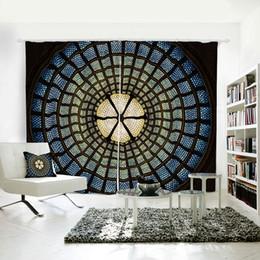 Personnalité d'impression numérique 3D personnalisé rideau motif d'art abstrait treillis drapés extra large blackout rideau partie décoration fond ? partir de fabricateur