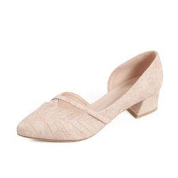 Deutschland Frauen Sandalen Block Heels Pumps Sandalen Mode aushöhlen wies Toe Korea Schuhe Nude Heels bequeme Heels Schuhe cheap heels shoes korea Versorgung