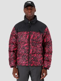 """2019 casaco de pêlo duplo branco mens 19 Luxury Designer revestimento dos homens Down Jacket O Outono e Inverno do Norte """"Red Rose"""" face à prova de vento impermeável carga Outdoor"""