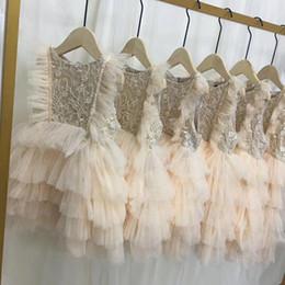 Haut de gamme bébé fille robe nouvelle broderie fleurs princesse infantile robes de soirée pour les filles d'été mode enfants dentelle robe bébé jupe ? partir de fabricateur