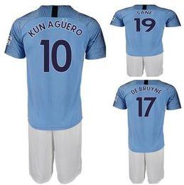 c4b3acc23b0 soccer jerseys set customized Promo Codes - MENS Customized 18- 19 10 Kun  Agüero 7