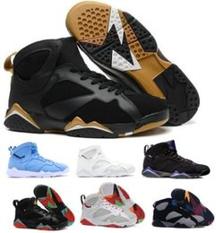 meet 27aae f1baa 7 7s Basketball Schuhe Sneakers White Hare Bordeaux Dollar Raptor Pantone  Pure Money Nights Tinker Olympic 2019 VII Männer Frauen Körbe Schuhe