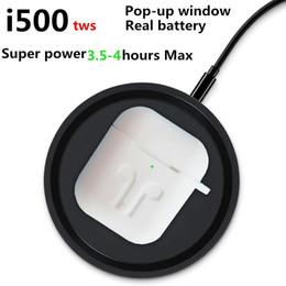 blackberry goophone Sconti Recenti i500 di alta qualità TWS wireless di ricarica della cuffia intelligente Generazione sensore 2 Auricolare Bluetooth con pop up auricolari finestra