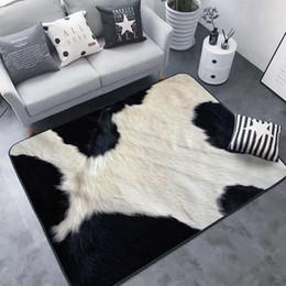 2019 alfombras con estampado animal Alfombra creativa de piel de animal con estampado de leopardo / cebra / vaca / tigre 3D Alfombrilla para sala de estar Alfombra Tapetes de alfombra alfombras con estampado animal baratos