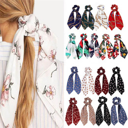 feathers hair style Promo Codes - 67 Styles Horsetail Headband Bow Streamers Hair Ring Fashion Ribbon Girl Hair Bands Scrunchies Horsetail Tie Solid Headwear Hair Accessories