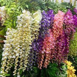 Decorazione di nozze di glicine di 110cm 6 colori ghirlande decorative artificiali dei fiori per la casa di nozze del partito per trasporto libero da
