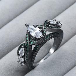 ouro de zircónio Desconto Heat Pin New Ring Chapeamento Black Gold Zircon Ornamentos. Sobreposição de 5 Zirconium Stone Fashion Ring