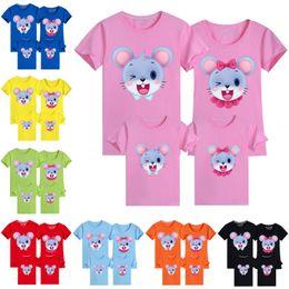 2020 camisetas de bebé mamá a juego Ropa a juego del ratón Impreso familiares mamá y papá camiseta del bebé de la madre y de la hija de ropa de verano muchachas de los muchachos del algodón del ratón Top camisetas de bebé mamá a juego baratos
