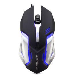Computer-maus spiele online-Wired Gaming Mouse Einstellbare 1600DPI Bunte LED-Licht 4D Game Mäuse für PC Computer Laptop Tablet