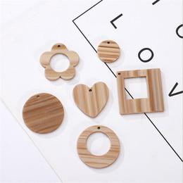 10pcs//lot Natural Wood Drop Charms 27*62mm Pendants Fits Earrings DIY Making
