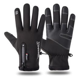 Gants pour moto en Ligne-2019 la haute qualité designer commerce extérieur nouveaux hommes imperméable gants d'équitation plus velours thermique fitness moto gants