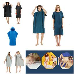pépinière de bébé en tissu Promotion nouveau solide plage peignoir manteau serviettes de plage peignoirs unisexe peignoirs à capuchon couverture extérieure Cape Cape Cape ménage vêtements T2I5192