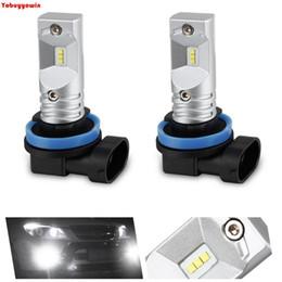 seoul führte lichter Rabatt 2 * H8 H11 DRL führte Nebellicht-Lampen, Ultra-Upgrade-SEOUL CSP Chipsatz 1600LM 6000K 12V-24V Ersatz-Scheinwerfer-Birnen-Weiß