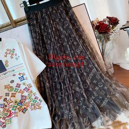 Deutschland Sommerkleider Frauenkleidung Kleider Double-Layer-Garn elastische Taille Print Rock plus Größe Strand vertuschen Wild ist dünn Frauen Sommerkleidung Versorgung