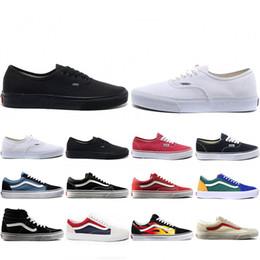 sapatos de parede Desconto Vans Mais barato Nova Van OFF THE WALL skool velho TEMOR DE DEUS Para homens mulheres tênis de lona YACHT CLUB MARSHMALLOW moda skate sapatos casuais