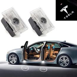 ha condotto la luce del pozzanghera Sconti Luci a LED per pozzanghera Logo per auto Proiettore per porte Segnapasso Abbinamento perfetto per Tesla Modello 3 Modello S Modello X