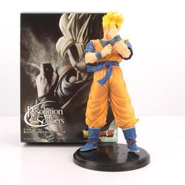 Excelente 20 cm Banpresto Dragon Ball Z Figura Son Gohan Resolução Dos Soldados Vol 6 Gohan Super Saiyan DragonBall figura brinquedos de ação de