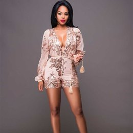 2a8eabd611 MUXU gold bodysuit jumpsuits for women glitter sequin sexy rompers womens  jumpsuit macacao feminino body mujer short streetwear