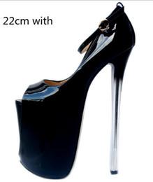 Nouveau printemps ultra-talon stiletto cuir verni poisson bouche chaussures simples T Taiwan sexy chaussures de grande taille pour femmes ? partir de fabricateur