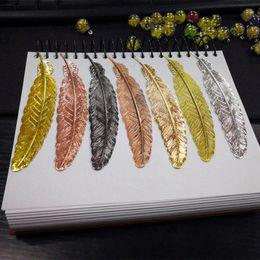libros frescas Rebajas Creativo Marcador de plumas de metal Estilo chino Página de la vendimia Niza Cool Book Markers Suministros escolares Regalos de boda para invitados