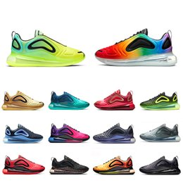 Ostern sneakers online-NIKE AIR MAX 720 Shoes  Metallic Platinum running shoes for men women Northern Lights triple black red SUNRISE CARBON GREY DESERT GOLD mens trainers sports sneakers