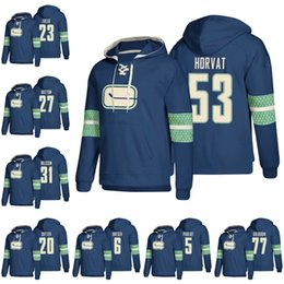 b3a04a48a 53 Bo Horvat Vancouver Canucks Hockey Hoodie Elias Pettersson Brock Boeser  Ben Hutton Nikolay Goldobin Anders Nilsson Jay Beagle Jerseys