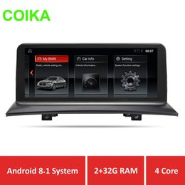 "gps navi Coupons - COIKA 10.25"" Car GPS Navi Recorder For X3 E83 2003-2009 Android 8.1 System Multimedia Screen 2+32G RAM WIFI IPS Touch BT USB"