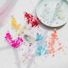 2019 einfache elegante ohrringe 8 farben Korean New Fashion Perle Quaste Ohrring Trendy Einfache Elegante Einzigartige Ohrringe Frauen Schmuck Zubehör rabatt einfache elegante ohrringe
