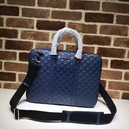 Nuova vendita calda di marca designer uomini spalla valigetta in pelle nera designer borsa uomini d'affari 451169 borsa per laptop borsa a tracolla da vendita di valigette fornitori
