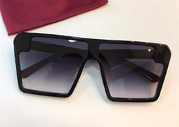 moda óculos grandes quadros Desconto Moda de luxo Mulheres Designer de Óculos De Sol 0396 Popular Big Praça Quadro Simples Estilo UV400 Lente Óculos Óculos de Qualidade Superior Com Caso